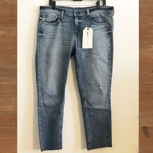 Rag & Bone Light Wash Dre Capri/cropped Jeans